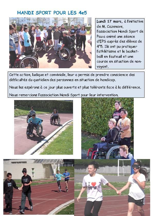 Handi Sport  4°5 ~ College Bois D Amour Billere